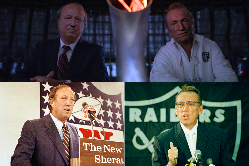 Clockwise from top: Courtesy of NFL Films :: Bob Galbraith/AP/via NFL Films :: Dave Pickoff/AP/via NFL Films