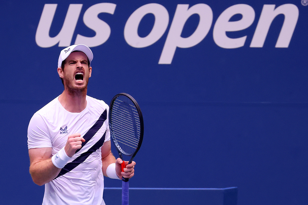 Andy Murray still felt the intensity in Flushing, Queens. (Al Bello/Getty Images)