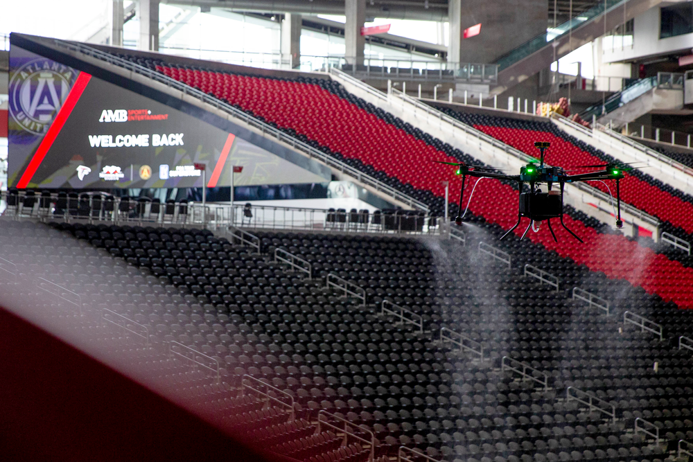 Atlanta Falcons Will Use Drones to Disinfect Mercedes-Benz Stadium