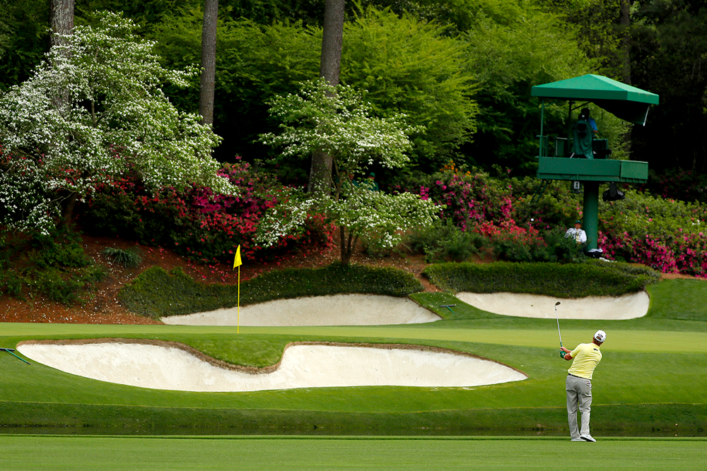 The No. 12 hole of the Masters at Augusta National Golf Club. (Kevin C. Cox/Getty Images)