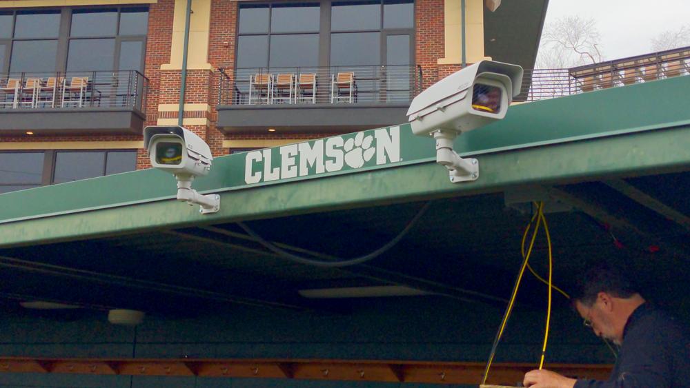 YakkerTech cameras at Clemson.