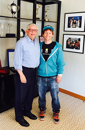 Eli Dawson (r.) with David Stern.