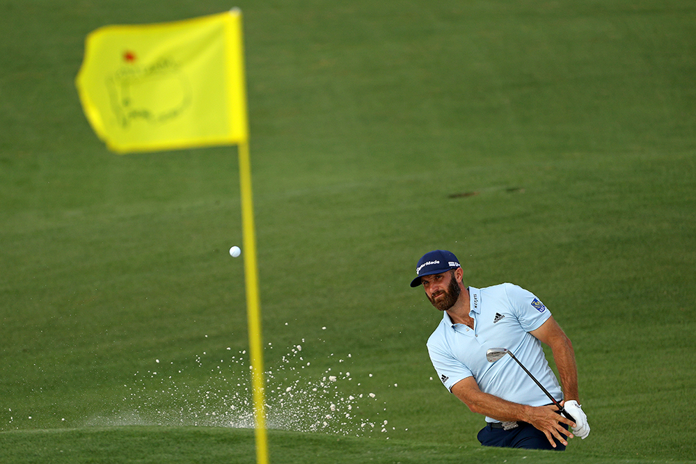Dustin Johnson at the Masters (Patrick Smith/Getty Images)