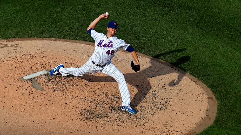 Two-time Cy Young Award winner Jacob deGrom. (Al Bello/Getty Images)