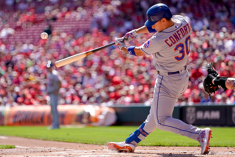 Outfielder Michael Conforto. (Bryan Woolston/Getty Images)