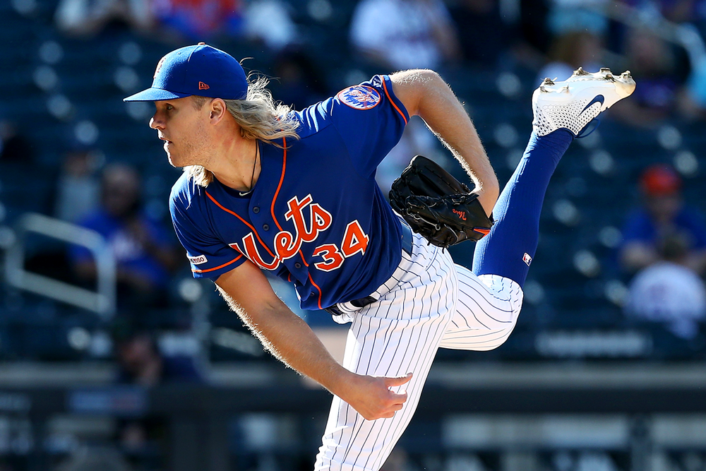 Pitcher Noah Syndergaard. (Mike Stobe/Getty Images)