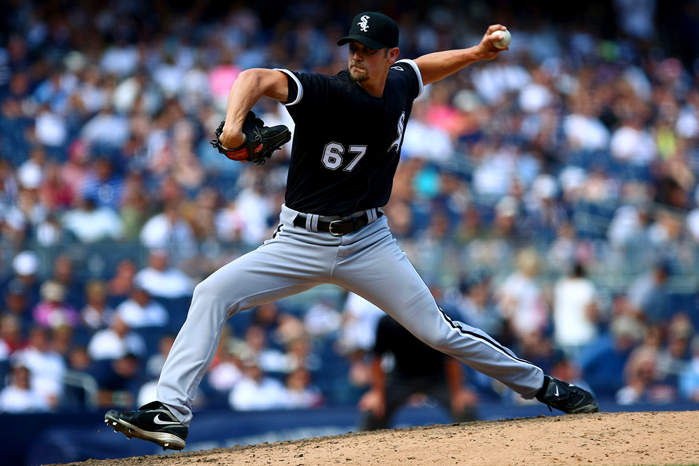 Williams pitching at Yankee Stadium in August 2009. (Chris McGrath/Getty Images)